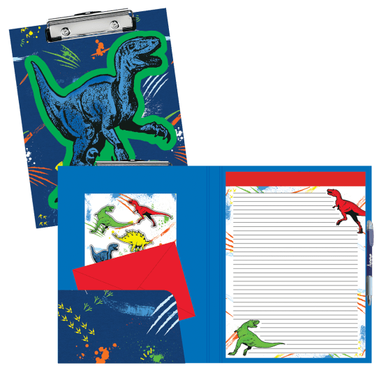 Picture of Dinosaur Tracks Glow Clipboard Set