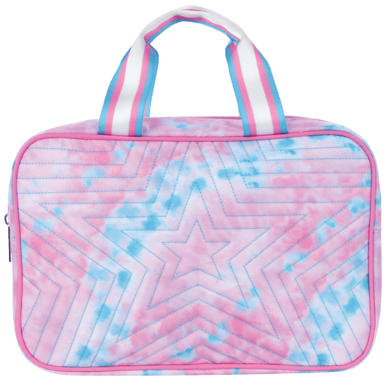 Picture of Silver Star Quilted Large Cosmetic Bag