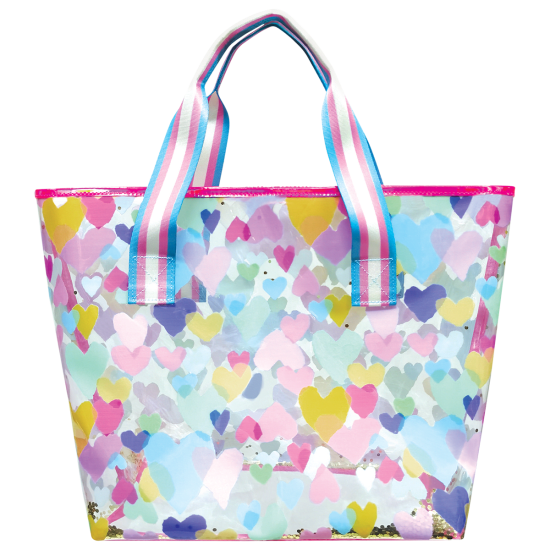 Picture of Pastel Hearts Clear Tote Bag