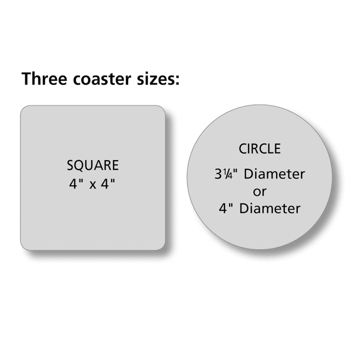 Enduraline lenticular coasters for Coaster size template