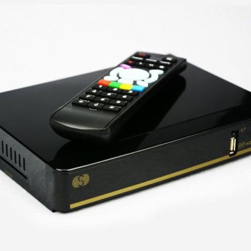 Receptor SKYBOX V7 VFD Wifi USB WEB TV CCCAMD Youporn