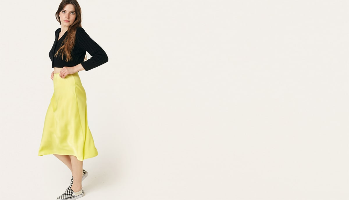 yellow-katy-bias-satin-midi-skirt--------boom!youre-with-us-now by nobodys-child