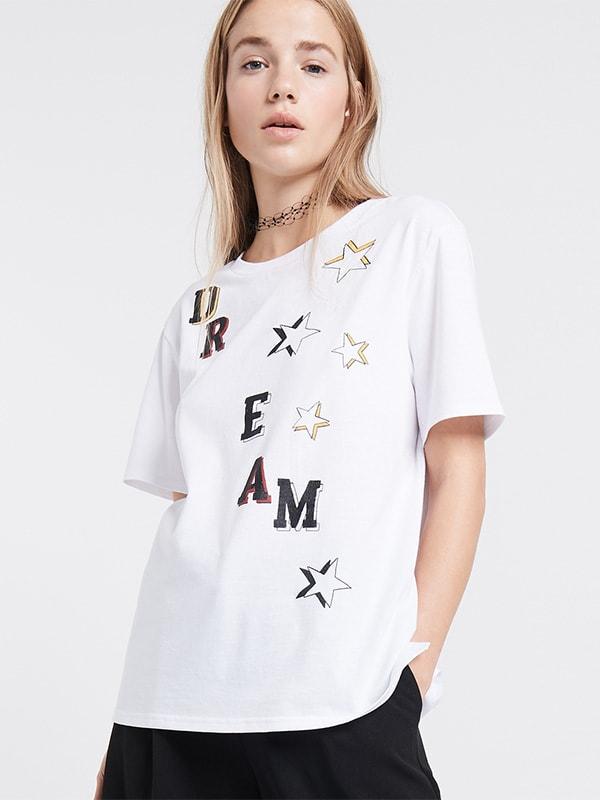 WHITE DREAM & STAR T-Shirt