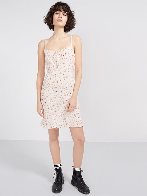 Cream Eira Ditsy 90'S Slip Dress