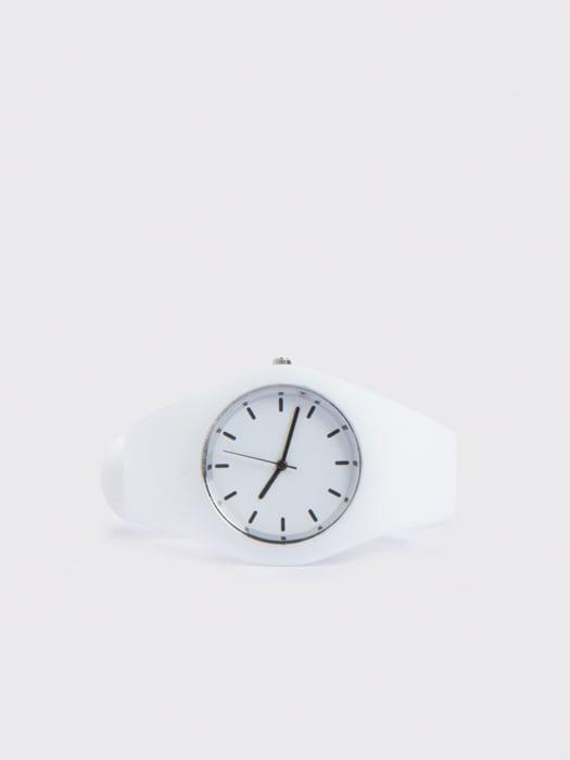 Lola White Silicon Watch