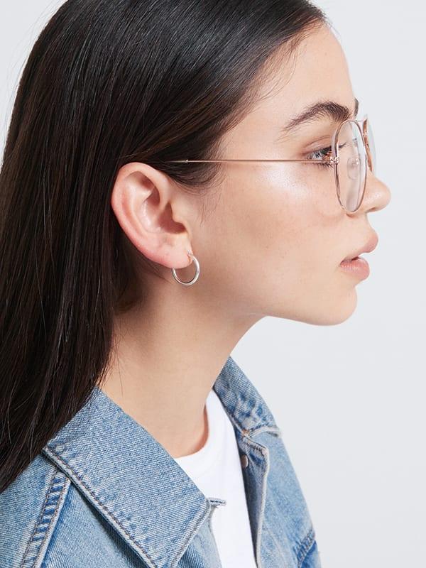 Bella Clear Lens Aviator Glasses