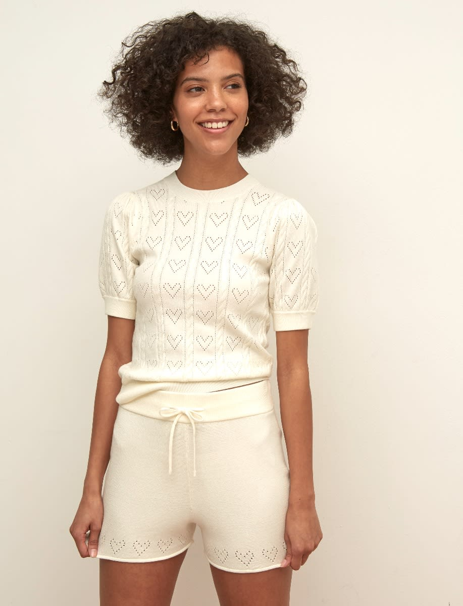 Pointelle Knitted Shorts