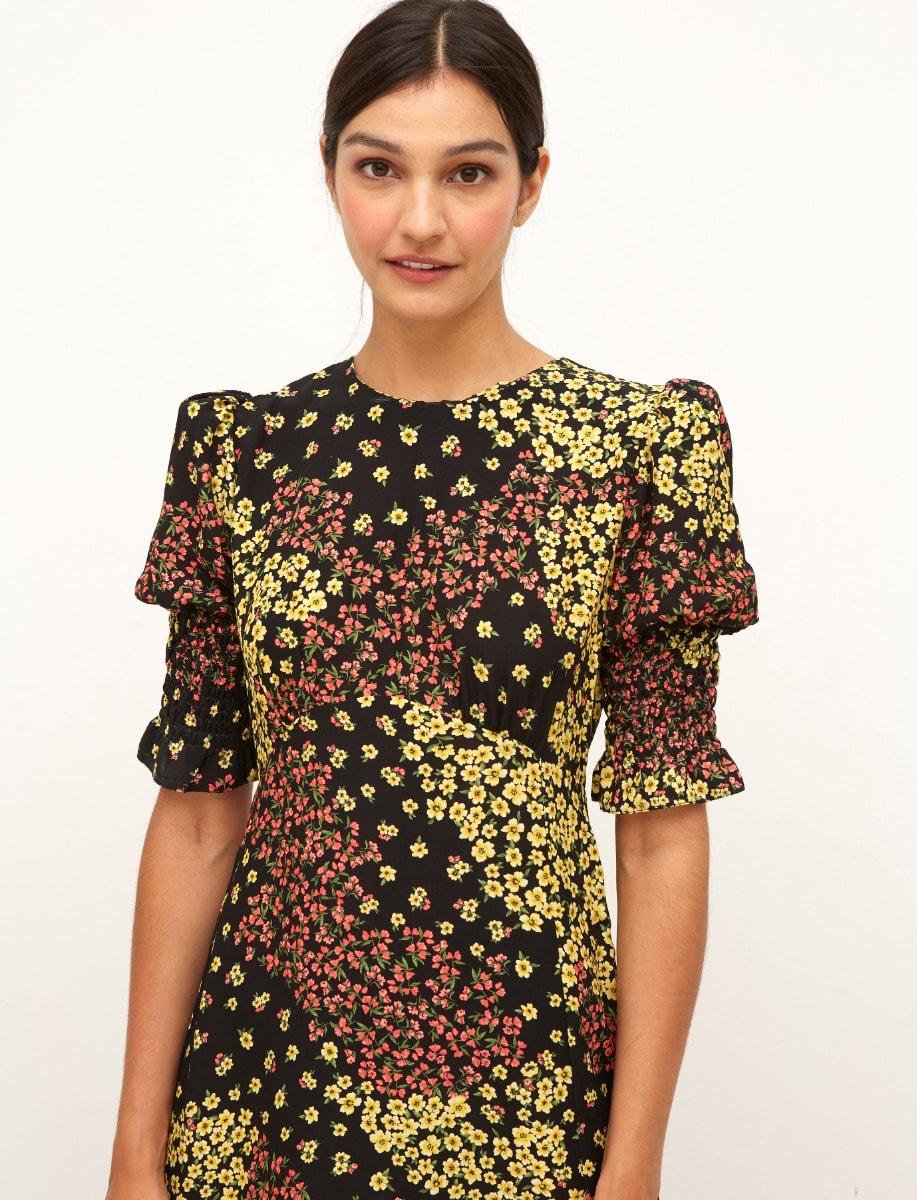 Lenzing Ecovero Patchwork Floral Luna Midi Dress