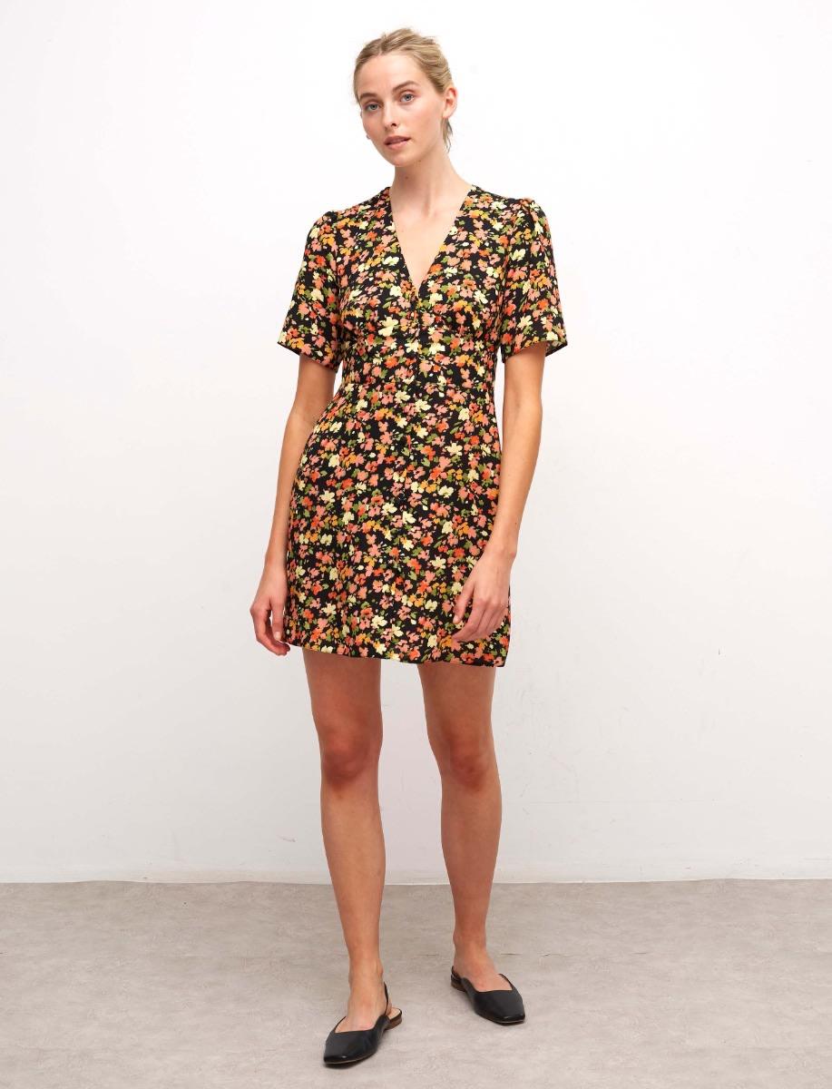 Lenzing Ecovero Multi Floral Alexa Mini Dress