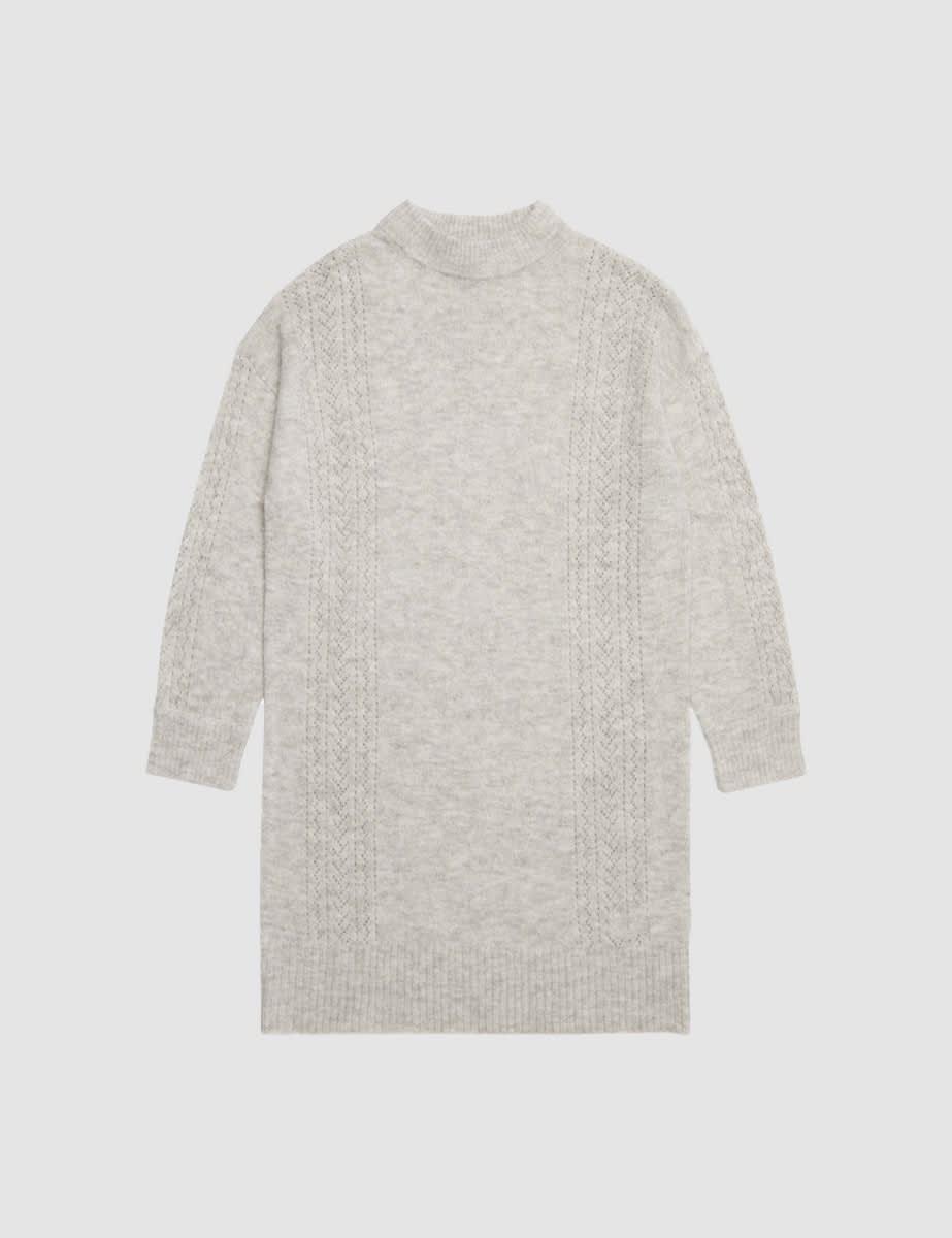 Somebody's Child Grey Mini Pointelle Dress