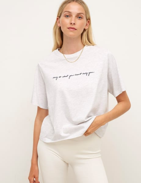 Boxy Embroidered T-Shirt