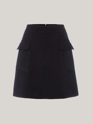 Black Marissa Aline Pocket Mini Skirt
