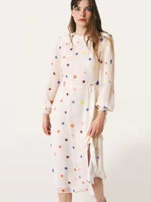 Cream Star Georgie Midi Dress