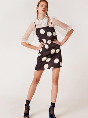Black and White Spot Victoria Cami Mini Dress