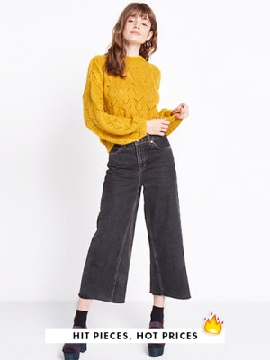 Mustard Pointelle Stitch Jumper