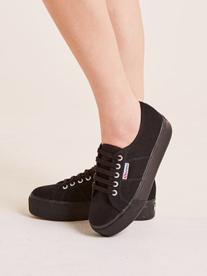 Black Platform Superga Trainer
