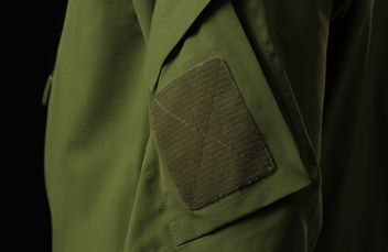 Attachment for shoulder sleeve insignia