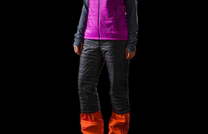 Norrona lyngen alpha 100 isolation vest for ski touring for women