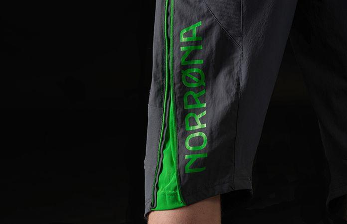 norrøna fjørå herre shorts for stisykling med ventilasjon
