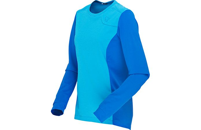 norrøna fjørå womens equaliser lightweight long sleeve shirt for biking