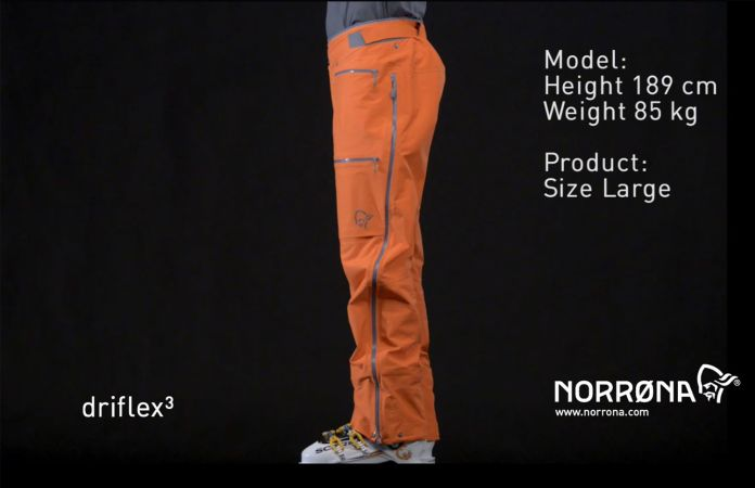 Norrøna lyngen driflex3 ski touring pants for men