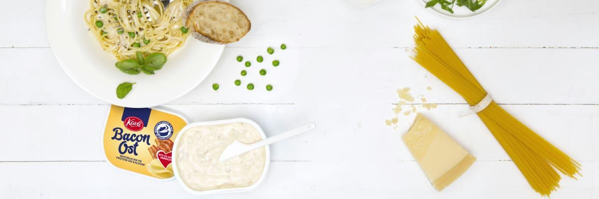 Kavlionara er Kavlis signaturrett med pasta og BaconOst som lages på bare 10 minutter