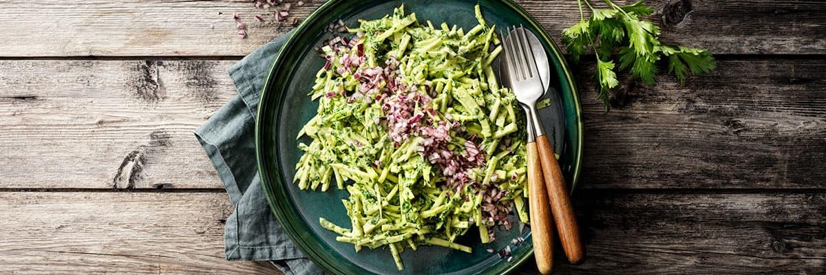 kavli vegansk majonnäs recept grön rotselleri slaw