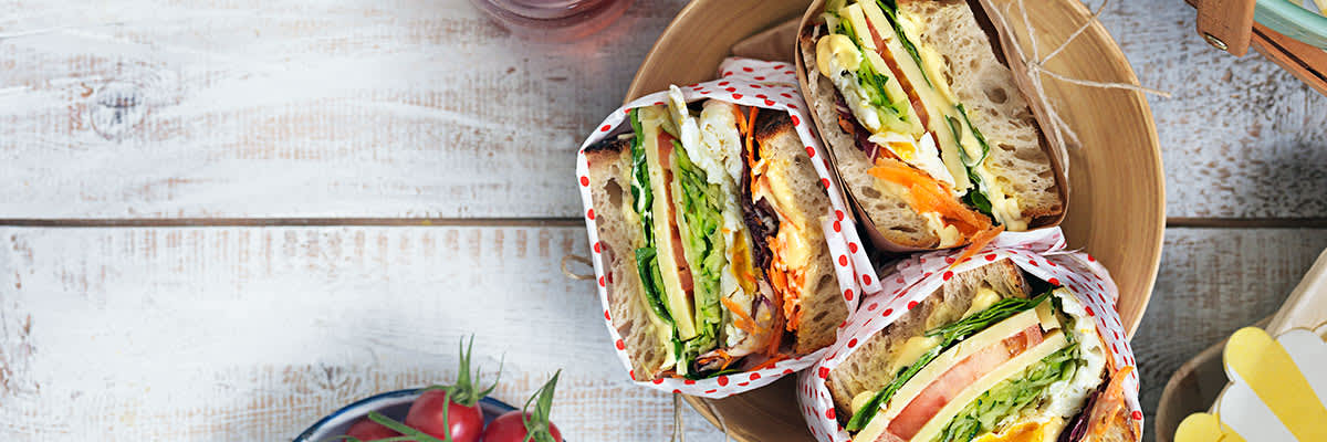 Bild av picknicksmörgås