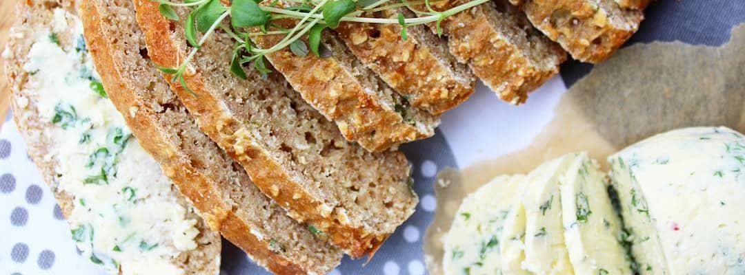 Bilde av Suppebrød med urtesmør av Q Naturell Yoghurt