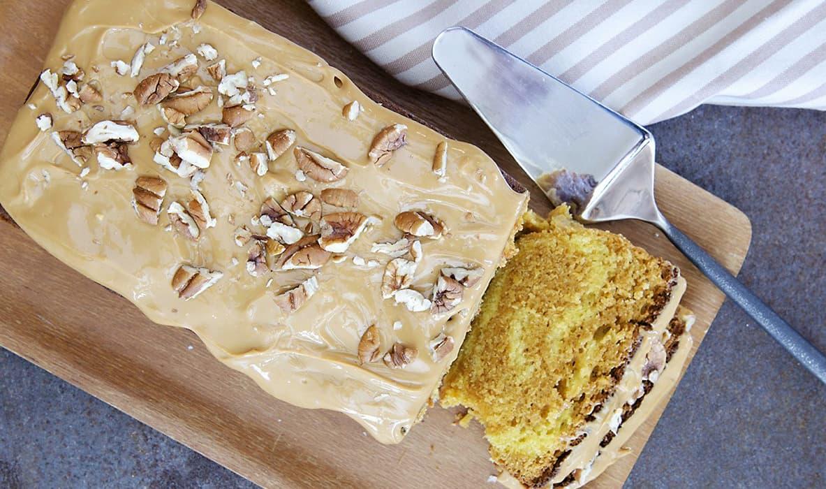 Marmorkake med HaPå-glasur av matblogger Fru Timian