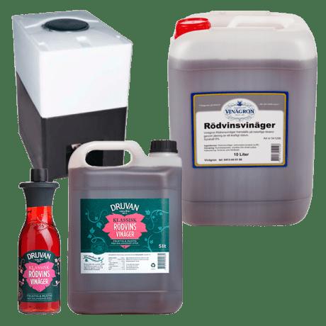 Rödvinsvinäger 6% i fyra förpackningar