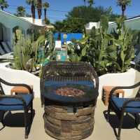 the fire pit -POSH Palm Springs Inn boutique bed & breakfast