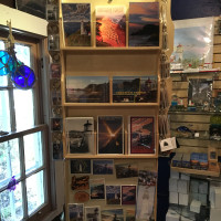 postcards, magnets, key chains