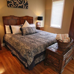 bedroom at The Villa at Waters Edge - a Luxury Vacation Rental on Lake Wylie in Belmont NC