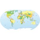 Painel Fotográfico Mapa Mundi Tradicional Origini