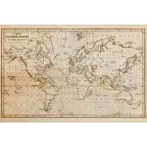 Painel Fotográfico Mapa Mundi Seculo XIX Origini