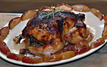 Apple Rosemary and Thyme Chicken Packets
