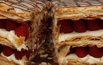 Raspberry and Fig Napoleons