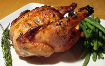 Roasted Cornish Hens with Chili Beer Paste