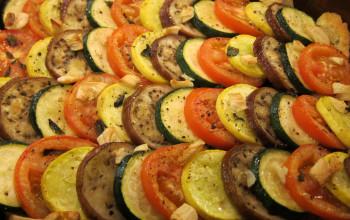 Roasted Vegetables with Roasted Garlic Vinaigrette