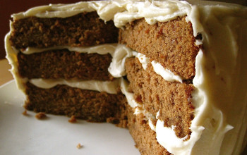 Triple-Decker Cream Cheese Frosted Gingerbread Cake