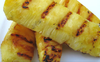 Broiled Pineapple with Honey Ginger and Lime