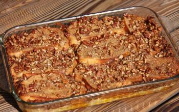 Oven-Baked Nutmeg Praline French Toast