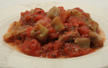 Rosemary, Tomato, Eggplant, and Black Olive Sauce