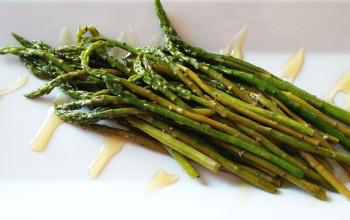 Asparagus with Honey Garlic Sauce