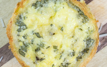 Potato Crust Smoked Whitefish Quiche