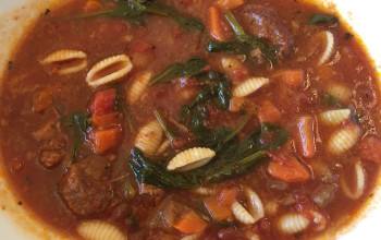 Herbed Meatball Minestrone