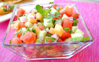 Melon Fruit Salsa