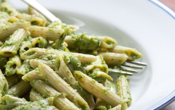 Artichoke and Spinach Sauce with Penne Pasta