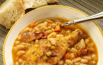 Garlic, White Bean, and Rosemary Chicken Stew